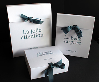boite packaging oersonnalisable